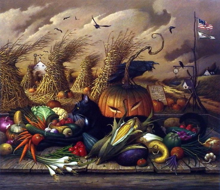 Charles Wysocki Monty Minding the Store I just love this! Happy Halloween Marty and Chelsea!!