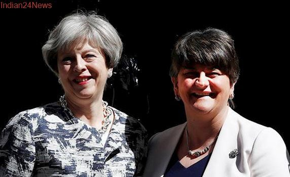UK PM May Strikes Deal to Get Northern Irish DUP Support For Minority Government