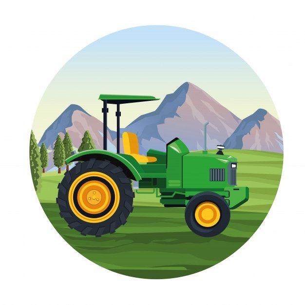 Vehículo Tractor Agrícola Vector Premium Premium Vector Freepik Vector Icono Verde Naturaleza Dibujos Animad Tractores Agricolas Tractor Tractor Dibujo