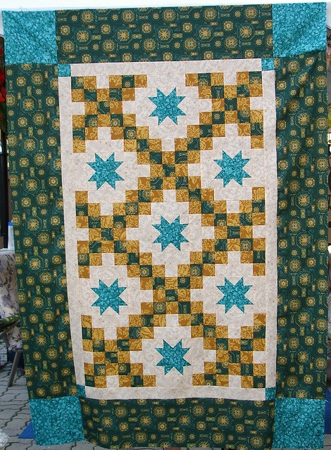 Lucky Stars - Merry Mayhem Mystery Quilt - July 18, 2010 by Happy 2 Sew (surprised to see this!  My mystery quilt top sewn by me!  - Cher Hamilton!!!!), via Flickr