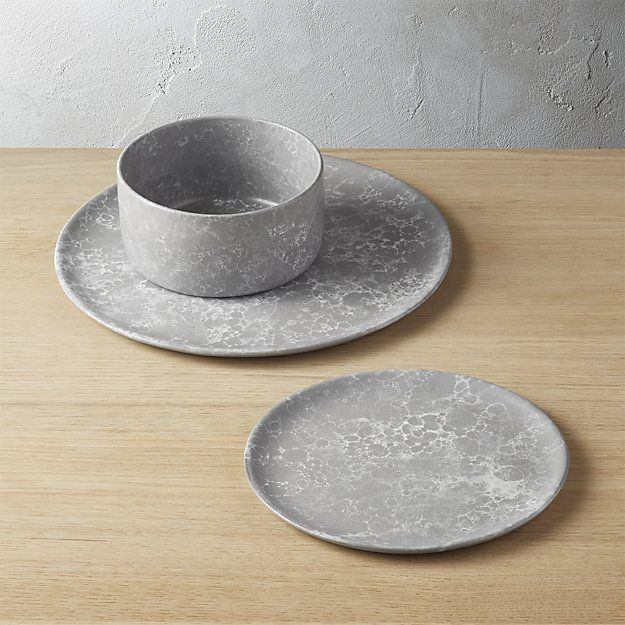 Froth Grey Dinnerware | CB2