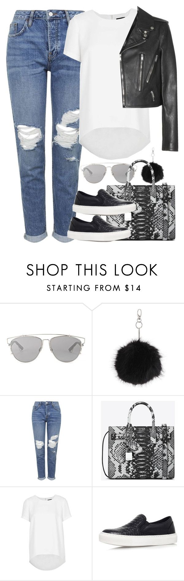 """""""Untitled #3877"""" by amyn99 ❤ liked on Polyvore featuring Christian Dior, Topshop, Yves Saint Laurent, women's clothing, women, female, woman, misses and juniors"""