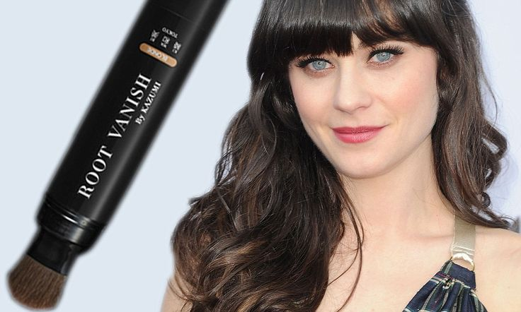 Goodbye to grey hair, forever? Zooey Deschanel's colorist makes nasty roots vanish with all-natural new cover-up gel