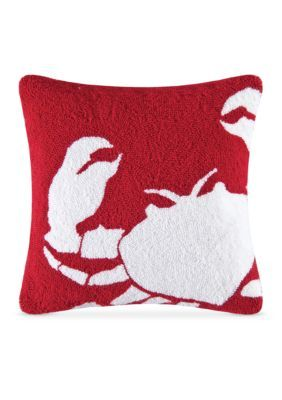 C&F To The Sea Crab Decorative 16-Inch Pillow - Mult - 16 X 16