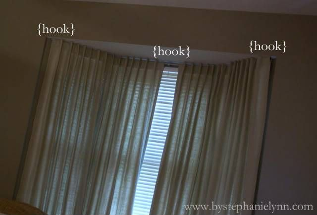 Make Your Own Bay Window Curtain Rod Treatments For