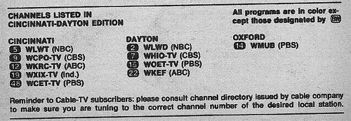 https://flic.kr/p/3WpAgD | Cincinnati-Dayton Edition (September 7, 1974) | From my TV Guide collection.