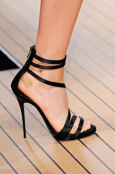 High Heel Ankle Strap Velvet Pumps