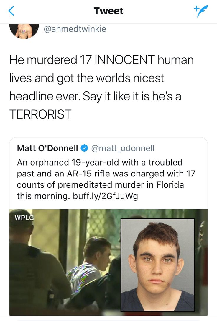 If he was brown they would've labeled him a terrorist, thug, or gangbanger. How many unarmed black kids who get killed by police grow up without parents and get bullied and have mental health issues? We only ever hear of them as aggressive and violent and dangerous but this white boy who killed 17 people for no reason is treated like a victim