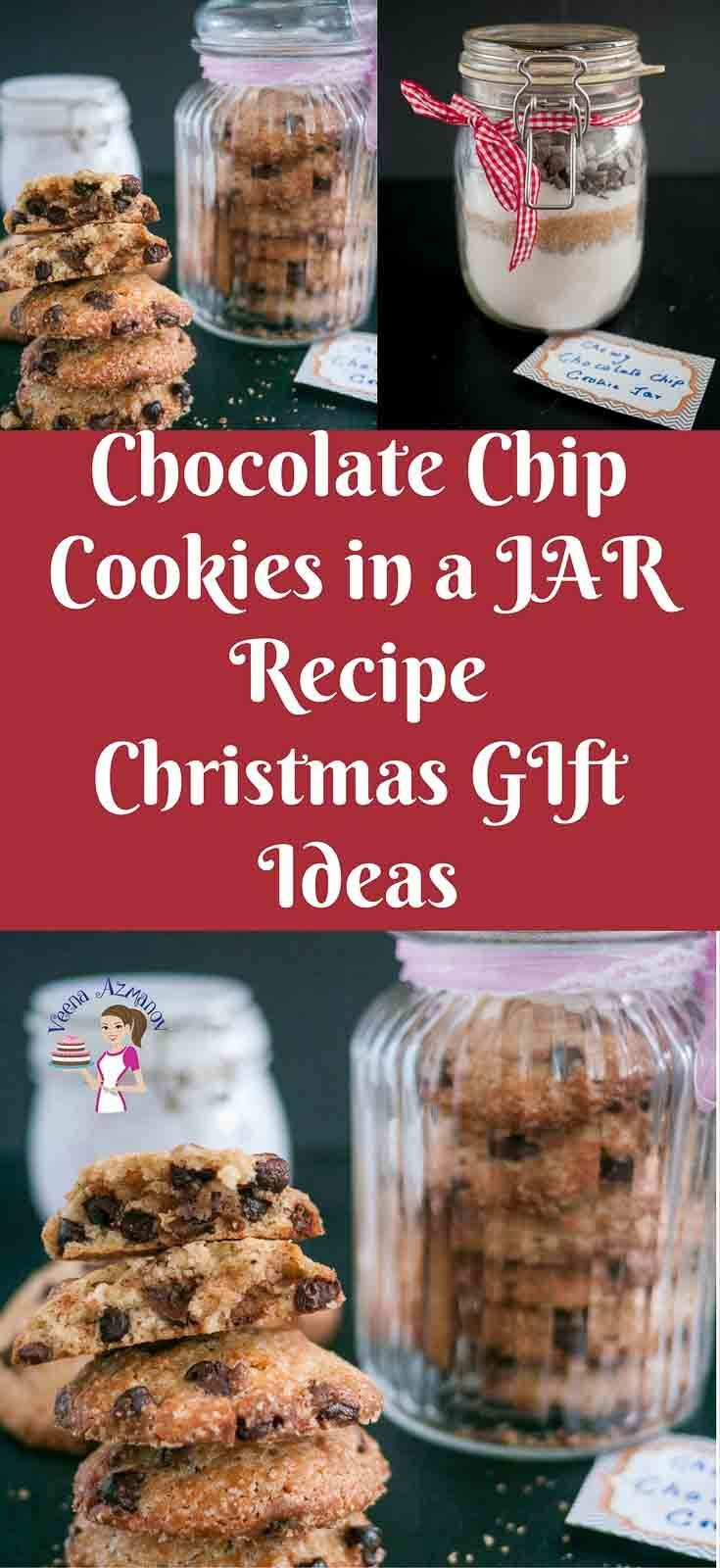 This Chocolate Chip Cookie Jar Makes A Perfect Christmas Gift For Family And Friends Filling T Cookies Recipes Christmas Chocolate Chip Cookies Christmas Food