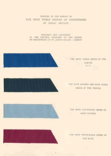 1937 Traditional British Colours was issued by the British Colour Council in commemoration of the Coronation of His Majesty King Geo...