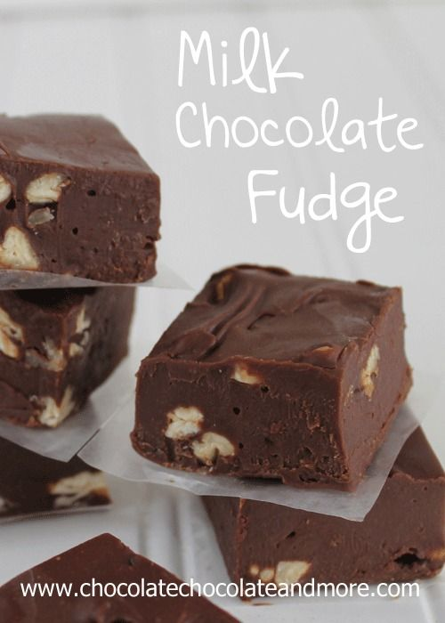 Milk Chocolate Fudge-smooth, creamy and easy to make! Used all semi-sweet chips. Try 1/2 milk choc chips and maybe cut vanilla to 1-1/2 tsp