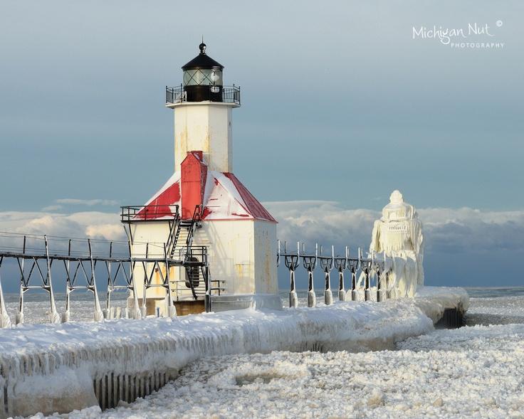 St. Joseph Lighthouse Winter   Lighthouses   Pinterest