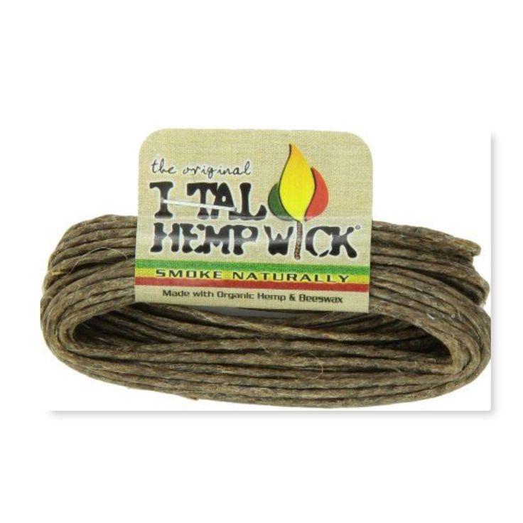 3pk I-Tal Hemp Wick ~ Large ~ Made of Organic Hemp & Bees Wax ~ Total of 46.5 Feet  Hemp Wick Made of Organic Hemp & Bees Wax 3pk of 15.5 Feet of Hemp Wick