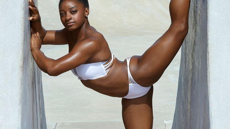 Simone Biles, Swimwear, Bikini, Simone Biles White Bikini Swimwear