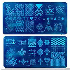 12x6cm fai da te smalto per unghie stampaggio modelli di bollo di arte del chiodo strumenti piatti unghie