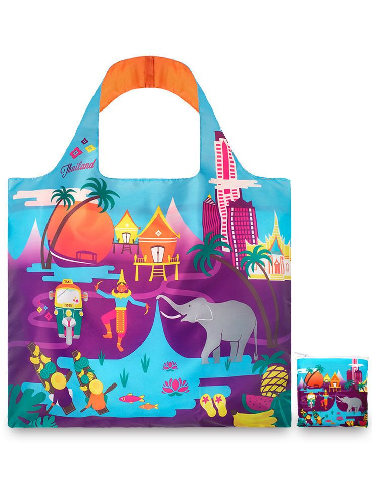 LOQI Thailand Reusable Shopping Bag - Thailand - One-Size | ESSENTIALAPPAREL saved by #ShoppingIS