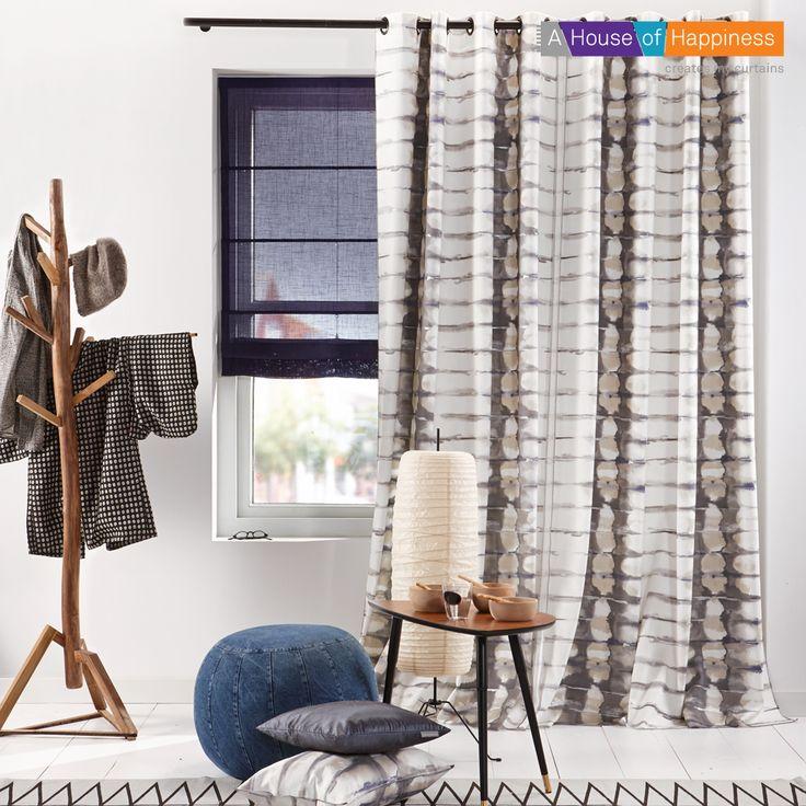 Hand Made, geïnspireerd  op de Japanse  shibori verftechniek #gordijnen #curtains #gardinen