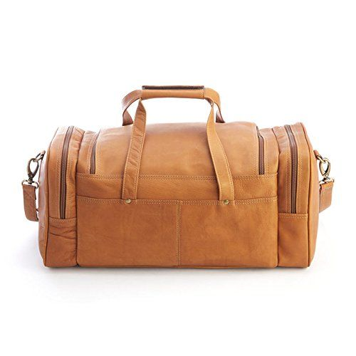 Black One Size Royce Leather Luxury Travel Weekender Duffel Bag Handcrafted in Colombian Leather