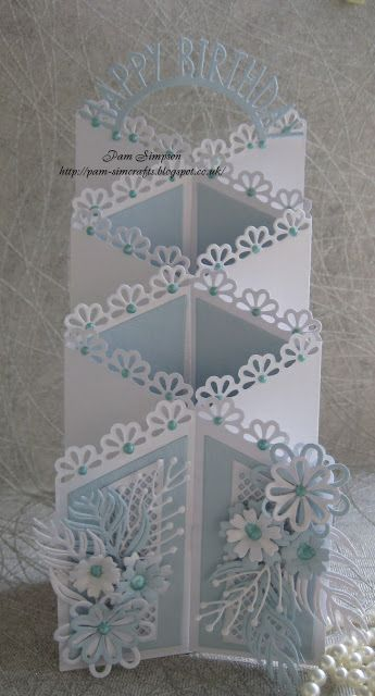 "pamscrafts: Zig Zag fold ""Birthday Card""."