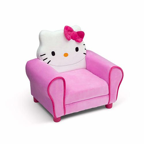 Hello Kitty With Her Iconic Bow Brings A Bit Of Fun To Any Childu0027s Space!  This Hello Kitty Deluxe Upholstered Chair From Delta Children Features  Plush ...