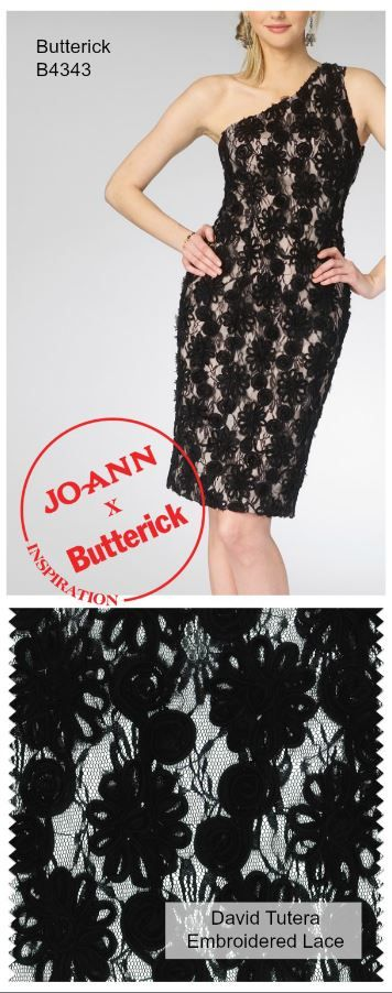 DIY Lace Dress | Black Lace One Shoulder Dress Pattern from @mccallpatternco | Find wedding dress ideas from @joannstores