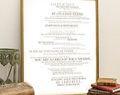 Desiderata word art print