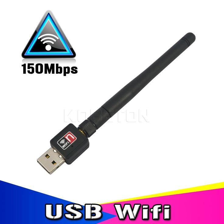 Mini Sans Fil 150 M Wifi Adaptateur Réseau Carte USB Externe WiFi Récepteur 150 Mbps Avec Antenne pour PC Ordinateur 802.11b/g/n