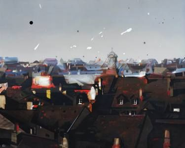 "Saatchi Art Artist Rolf Jansson; Painting, ""white skies and black holes"" #art"