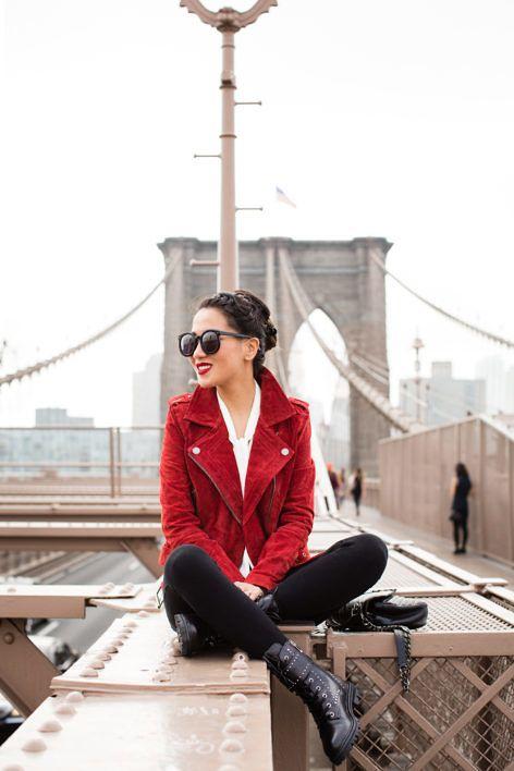 Autumn Reds :: Crimson suede jacket
