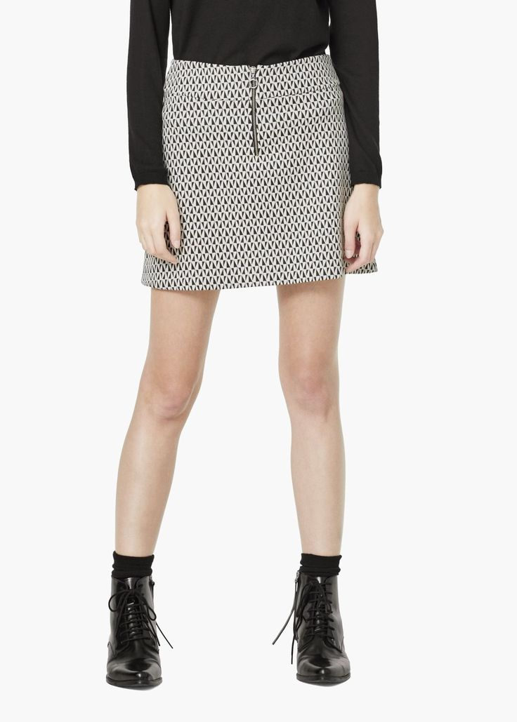 Geometric pattern cotton skirt - Skirts for Women | MANGO