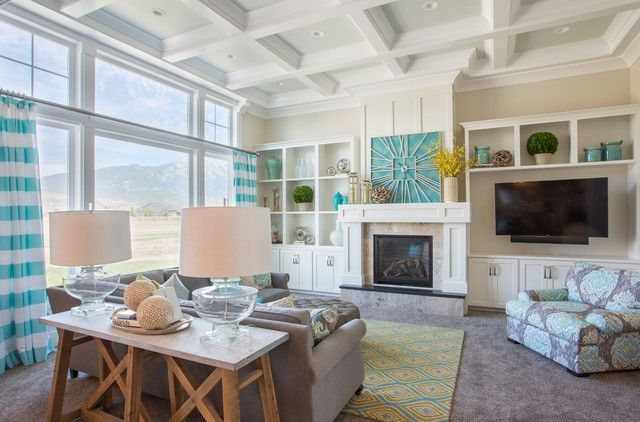 mantle-clocks-Family-Room-Transitional-with-Cabinetry-cleresory ...