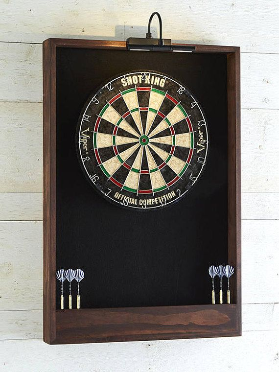 Dartboard surround dartboard cabinet man cave decor game room Bar games gift dad woodworking men gift idea furniture cabinets Home & living