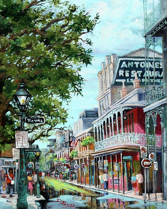 by Dianne Parks - a depiction of the New Orleans French Quarter