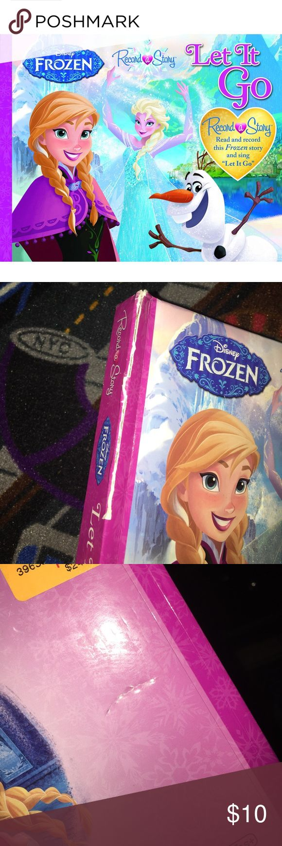 Disney Frozen Record a Story Let it Go It's a new but bought damaged Disney Frozen Book. It works. The inside is in perfect condition it's just the outside that has flaws (as shown In pictures). If you have any questions feel free to ask. Disney Other