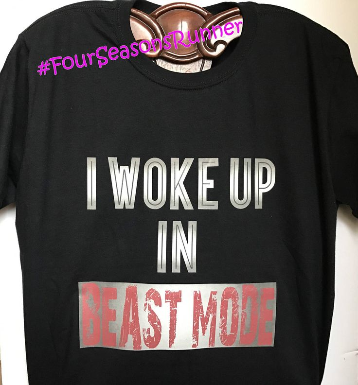 I Woke Up In BEAST MODE! Men's Beast Mode T-Shirt, Black T-Shirt, Active Wear, Gym Clothes, Workout T-Shirt by FourSeasonsRunner on Etsy https://www.etsy.com/listing/509268668/i-woke-up-in-beast-mode-mens-beast-mode