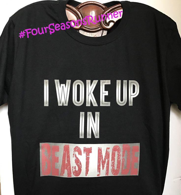 I Woke Up In BEAST MODE! Men's Beast Mode T-Shirt, Black T-Shirt, Active Wear, Gym Clothes, Workout T-Shirt by FourSeasonsRunner on Etsy https://www.etsy.com/listing/509268668/i-woke-up-in-beast-mode-mens-beast-mode