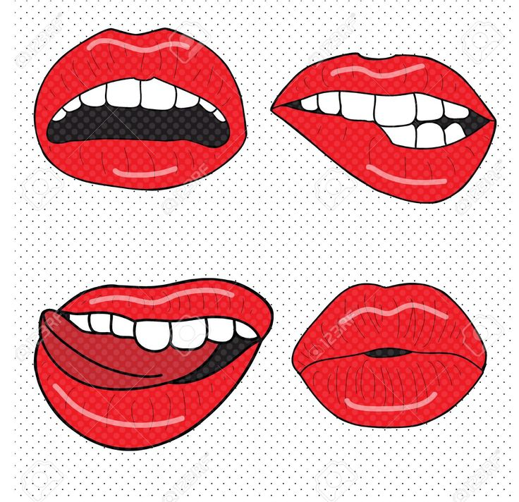 pop art mouth vector free - Google Search