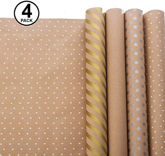 Wrapping Paper Gift Wrapping Paper Kraft Wrapping Paper With Polka Dots And Patterns Kraft Paper Wrapping Birthday Wrapping Paper Holiday Wrapping Paper