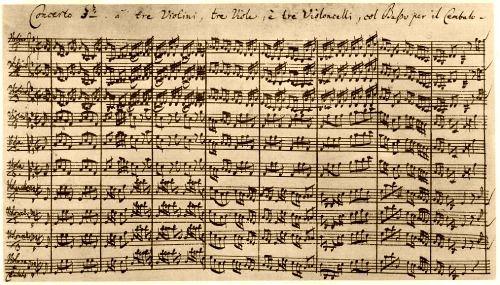 J.S. Bach (1685-1750) - Brandenburg Concerto No. 3 in G major - 1st mov - BWV 1048 (Köthen 1721) #bach #manuscript