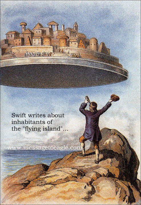 Jonathan Swift's Secret Knowledge And Extraordinary Interaction With UFOs - MessageToEagle.com
