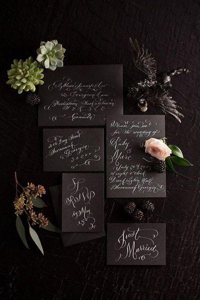 свадьба в черно белом стиле