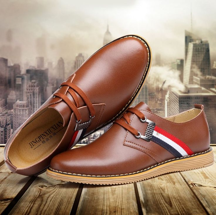 2016 New Spring&Autumn Vintage Men's Genuine Leather Oxfords Flats Breathable Classic Lace-up Dress Business Shoes Foe Man