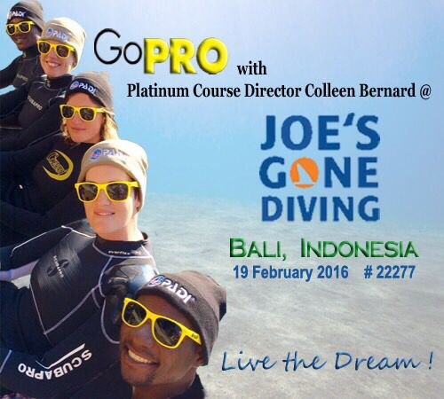 PADI Instructor Course in Bali February 2016