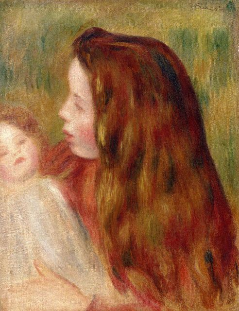 Auguste Renoir ,1897 , Little Girl with Doll