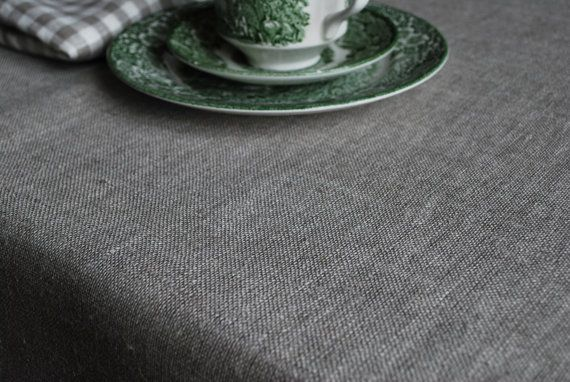 Rough Pure Linen Tablecloth.   Undyed. Natural  by magdalinenHome