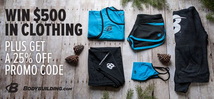 Enter to win the Bodybuilding.com Clothing Facebook Giveaway!
