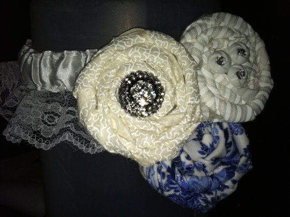 Something Blue Rosette Garter