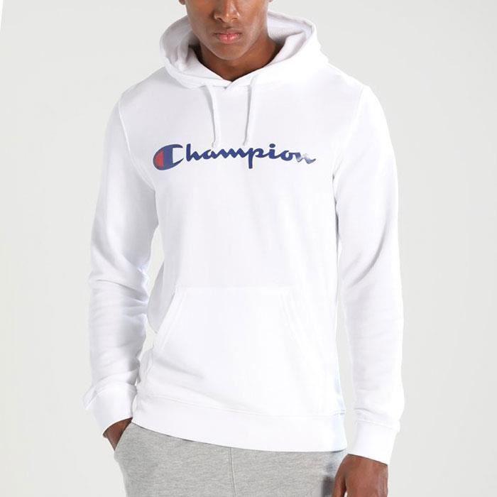 Sweat CHAMPION homme S7H7C9P044 blanc | liste idées cadeaux