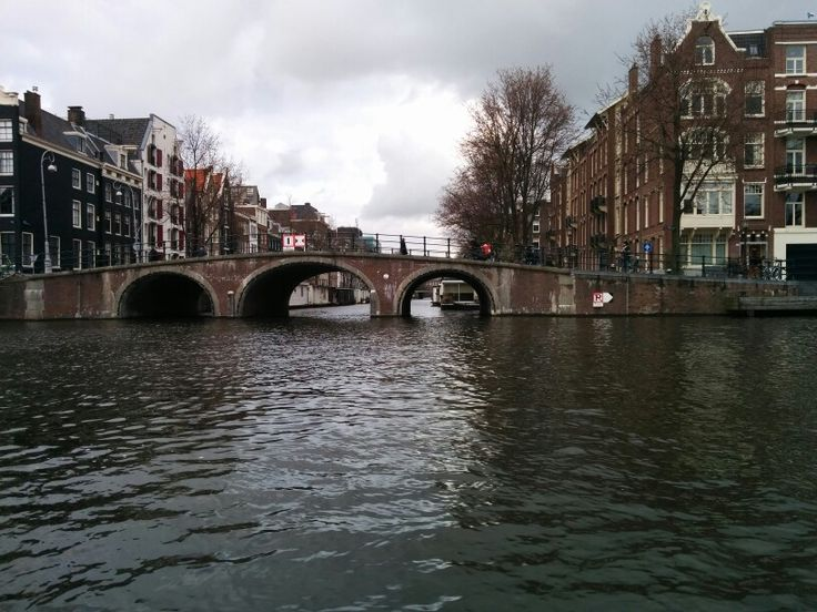 Beautiful Amsterdam seen from the Amstel