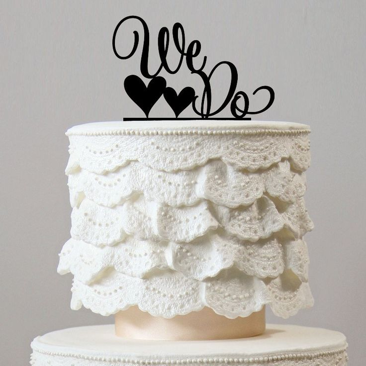 Romantic Weddings Simple: Romantic Wedding Cake Topper -Simple &Elegant (We Do /Love